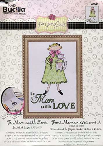 Bucilla To Mom With Love Counted Cross Stitch Picture Kit