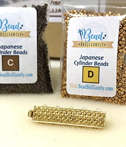 DIY Beading Kit – Brown Stripes Beaded Bracelet, Peyote