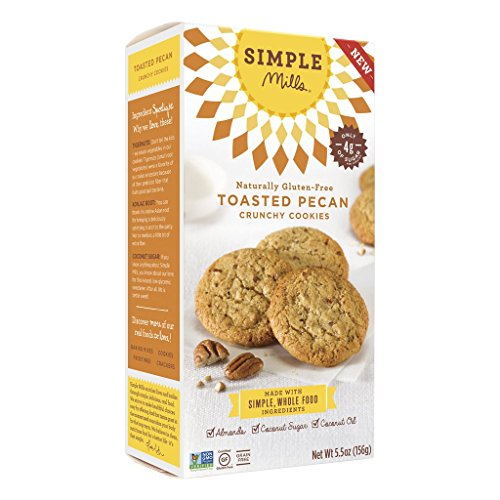 Simple Mills - Ready-to-Eat Crunchy Cookies - Toasted Pecan - 4.25 oz, Gluten Free, Grain Free, Paleo (1 ()