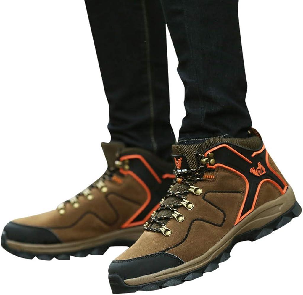 Jentouzz Couple Hiking Shoe High-Traction Grip Trekking Trailing Boot Wear-Resistant Nonslip Outdoor Shoes for Men Women