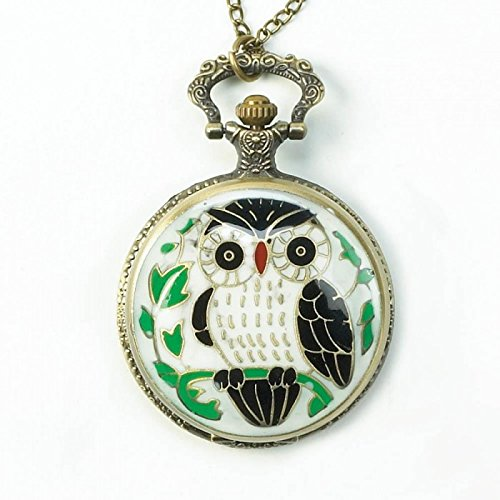 seven-one-colorful-owl-necklace-timepiece