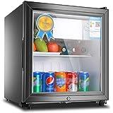 シングルドア冷蔵庫50 / 90L容量ロック付省エネミュート食品サンプルディスプレイ冷蔵・冷凍保管キャビネット世帯
