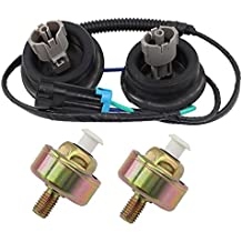 Knock Sensors Harness Connector For Cadillac Chevy GMC GM LS1 LQ4 LQ9 6.0 5.3 5.7 Hummer Pontiac Saab Replaces # 10456603, 12589867, 12601822, 8104566030