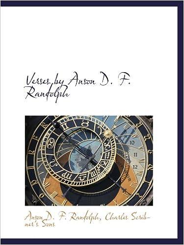 Descargar Libros Para Ebook Verses By Anson D. F. Randolph Archivos PDF