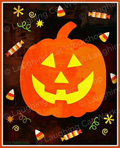 Cute Halloween decor, Kids Halloween print, Cute Pumpkin Art, Halloween Candy Corn Art, Happy Halloween Print, Jack-o-lantern Print -