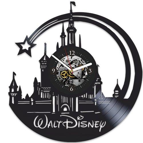Walt Disney Clock, Disney Clock, Wall Clock Modern, Walt Disney Gift For Girl, Wall Clock Large, Walt Disney Xmas Gift, Walt Disney Birthday Gift, Vinyl Wall Clock, New Year Gift For Kids