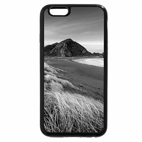 iPhone 6S Case, iPhone 6 Case (Black & White) - beautiful grassy beach