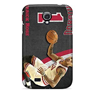 Shock-Absorbing Cell-phone Hard Covers For Samsung Galaxy S4 With Custom Stylish Chicago Bulls Skin KellyLast