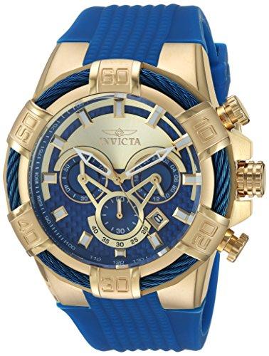 Invicta Men s Stainless Steel Quartz Watch with Polyurethane Strap, Blue, 29 Model 24698