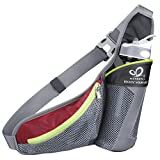 Water Bottle Waist Bag, WATERFLY Daypack Chest Belt Pouch Fanny Pack Multipurpose with Water Bottle Holder for Outdoor Sports