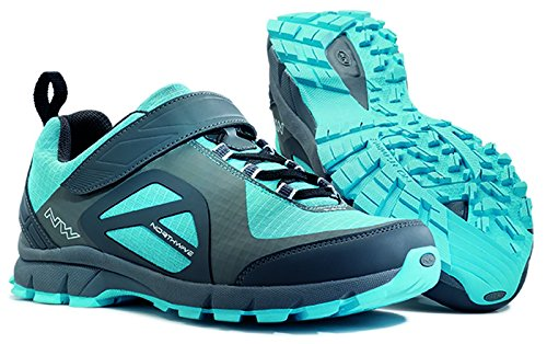 NORTHWAVE Scarpe MTB freeride donna ESCAPE WOMAN EVO grigio antracite/blu
