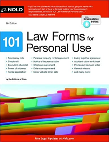 Amazoncom Law Forms For Personal Use Nolo - Simple legal forms