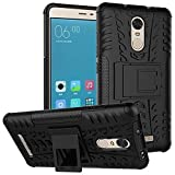 Kaira 2 Rugged Dual Layer Kickstand Warrior Case Back Cover For Xiaomi Redmi Note 3 , Black