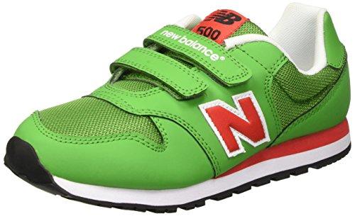 New Balance Kinder-Unisex NBKV500GDG Gymnastik Verde (Green Red)