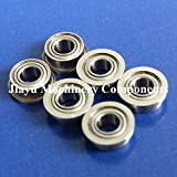 Fevas 50 PCS FR144ZZ Flange Bearings 1/8 x 1/4 x 7/64 inch Flanged Ball Bearings RIF-418ZZ
