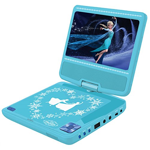 disney frozen portable dvd player with car adaptor and remote ebay. Black Bedroom Furniture Sets. Home Design Ideas