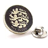 British Pound Tie Tack Lapel Pin Suit Britain Shield England Lions Seal Crest Royal Queen King Knight