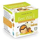 Natürliche und Biologische Reine Bienenwachs Windelcreme - Nappy Cream - Baby Feuchtigkeitscreme - Hergestellt aus Natürlichen Inhaltsstoffen - 50ml - Bietet Schutz und Feuchtigkeit - Nicht-allergene Feuchtigkeitsspende - Heilmitten - Beruhigt und Schützt Trockene, Raue, Rissige Und Gereizte Haut und Hinterlässt den Anwendungsbereich Glatt und weich. - Erzeugt eine Weichmachende Schicht, Um die Haut vor Feuchtigkeit Zu Schützen