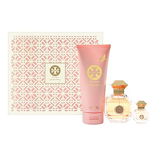 Tory Burch Love Relentlessly 3PC Set 3.4 oz Eau de Parfum Spray .24 oz Eau de Parfum 6.7 oz Body Lotion