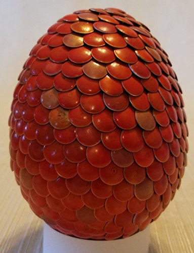 Handmade Color Changing Magical 4 inch Dragon or Phoenix Egg Red to Yellow