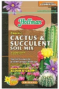 Hoffman 10404 Organic Cactus and Succulent Soil Mix, 4 Quarts, Brown/A