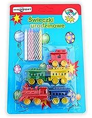 Miximport   Świeczki urodzinowe podstawki POCIĄG   Wagony   Lokomotywa   6 sztuk