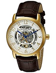 Stuhrling Original Men's 970.02 Legacy Analog Display Automatic Self Wind Brown Watch