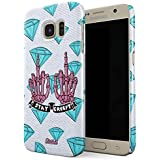 Glitbit Stay Creepy Stay Weird Diamond Patches Embroidered Emo Goth Punk Kawaii Grunge Middle Finger Bitch Thin Design Durable Hard Shell Plastic Protective Case For Samsung Galaxy S6