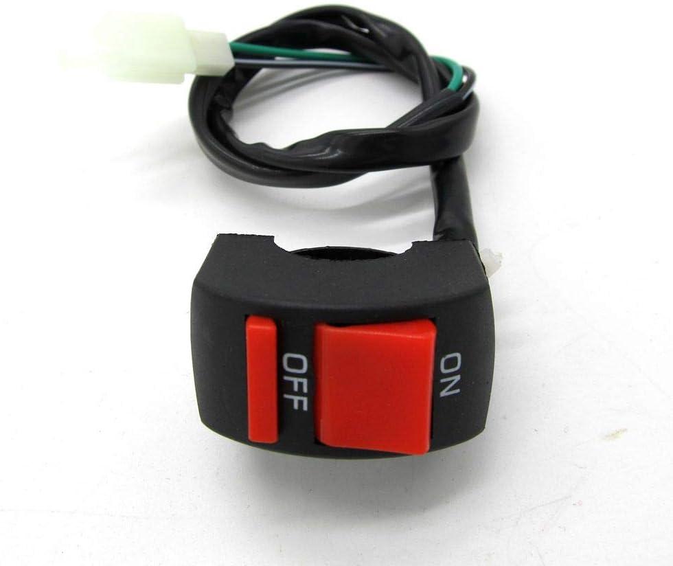 H HILABEE 2pcs Interruptor de Luz de Encendido//Apagado Universal para Manillar de Motocicleta