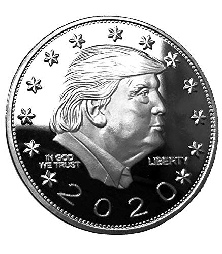 Donald Trump Keep America Great 2020 Silver Coin - Silver Plated Commemorative Collectors Edition. Stunning Proof Coin in Acrylic Capsule. Trump Challenge Coin from American Art Classics