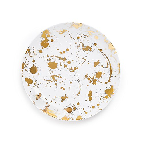 Gold Coupe Dinner Plate - 6