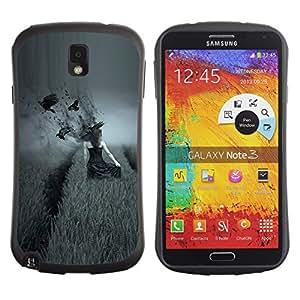 Pulsar iFace Series Tpu silicona Carcasa Funda Case para SAMSUNG Galaxy Note 3 III / N9000 / N9005 , dark side pole vorony devushka