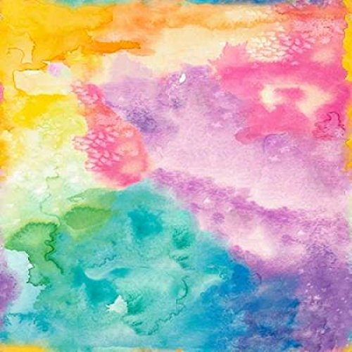 Rainbow Watercolor Poster Print by Nola James 24 x 24