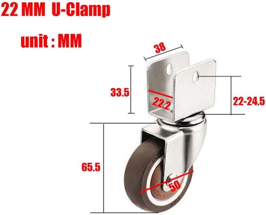 /établi,Porte-Fleurs Silencieux roulettes pour Meubles Transport roulettes roulettes Pivotantes avec Support en U De 2 Pouces,roulettes Pivotantes avec Frein Et sans Frein