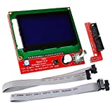OSOYOO 12864 LCD Graphic Smart Display Controller module with connector adapter & cable for RepRap RAMPS 1.4 3D Printer kit Arduino Mega 2560 R3 Shield
