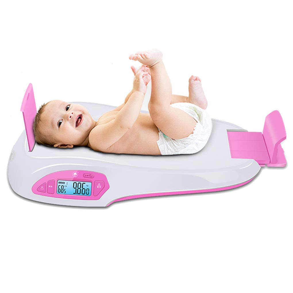 MMZZ Digital Scale Baby Electronic Digital Scale, Accurate Weight Height Scale,Infant Scale with Hold Function, USB Charging, 0.2lb-55lb (100g-25kg) by MMZZ