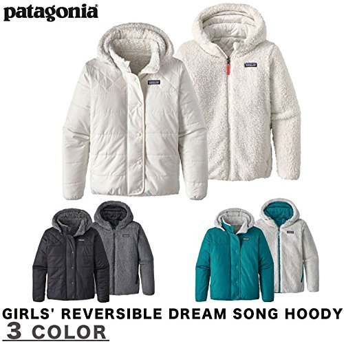 Patagonia Girls' Dream Song Hooded Reversible Jacket (XL, ()