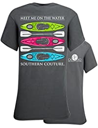 Classic Meet Me on the Water, Kayaks Womens Classic Fit T-Shirt - Charcoal