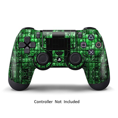 PS4 Controller Skin Stickers - Custom Sony Playstation 4 Remote Vinyl Sticker - Play Station 4 Joystick Decal - Green Digicamo by GameXcel ® [ Controller Not Included ]