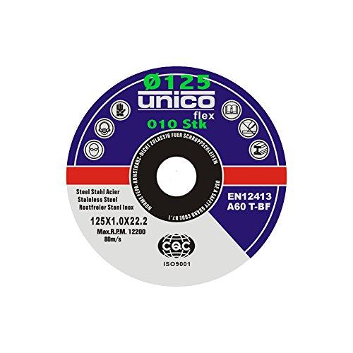 10 St/ück Trennscheibe /Ø 125mm x 1.0mm f/ür Winkelschleifer Stahl Edelstahl Flexscheibe Inox Metall