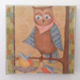 Owl Theme Handmade Wood Wall Art Unique Birthday Anniversary Gift Idea Home Kitchen Living Room Decor