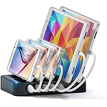 satechi 5port usb charging station dock with qualcomm certified quick charge 20 for iphone - Iphone Charging Station