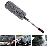 HOME CUBE Car Cleaning Microfiber Round Shaped Duster (Random Color)