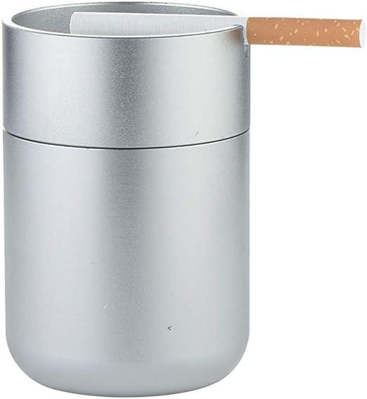 Cenicero De Acero Inoxidable Moderna Mesa con Tapa Cenicero Port/átil De Cigarrillos De Contenedores para La Seguridad del Decoraci/ón
