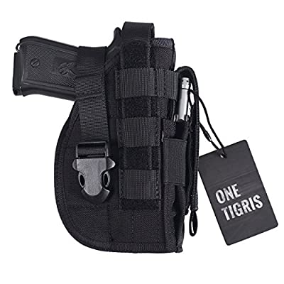 OneTigris Tactical Molle Modular Pistol Holster with Mag Pouch for Right Handed Shooters 1911 45 92 96 Glock