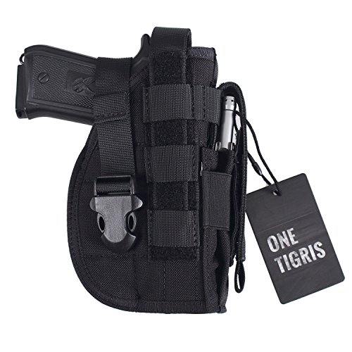 OneTigris Molle Belt Holster for 1911 45 92 96 Glock (Black - Right (1911 45 Holsters)