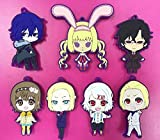 Flowe Mow 7 pcs Anime Tokyo Ghouls Kaneki Ken,Touka Kirishima Rei Rize,Juuzou Suzuya,Uta PVC Figures Phone Strap/Keychain Pendant Toys