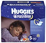 Health & Personal Care : Huggies Overnites Diapers, Size 5, 52 ct
