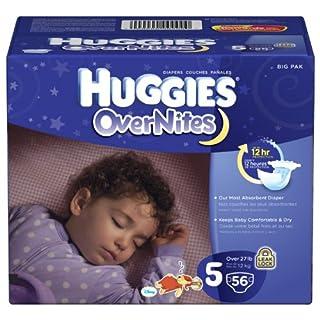 Huggies Overnites Diapers, Size 5, 52 ct