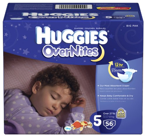 Huggies Overnites Diapers Size 52